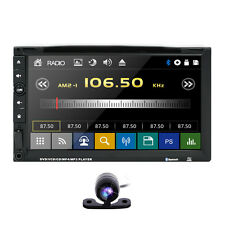 Double 2 Din In dash Car Stereo DVD Player Auto Audio Radio MP3 Bluetooth USB/SD