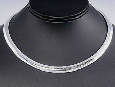USA Seller Italian Omega 8mm Necklace Sterling Silver 925 Best Deal Jewelry 16""