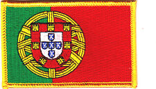 PORTUGAL FLAG, Portugese National Flag w/Gold Border/Iron On Patch Applique