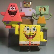 Spongebob Square Pants 4 Cake Toppers Sponge Bob Sandy Patrick Birthday NEW