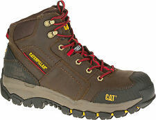 New Mens Cat Navigator Mid WP ST S3 Work 6 Inch Water Resistant Steel Toe