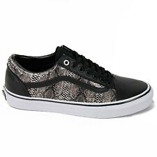 VANS OLD SKOOL BLACK KHAKI SNAKE SKIN MENS SIZE 9 SKATE SHOES