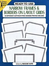 Dover Clip Art Ready-To-Use: Ready-to-Use Narrow Frames and Borders (1993, Paper