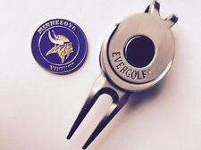 NFL Minnesota Vikings Golf Ball Marker and Magnetic Divot Tool
