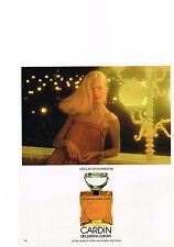 PUBLICITE  1978   PIERRE CARDIN    l'éclat d'un parfum