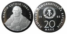 1591 20 marchi DDR Martin Luther 1983 in PP aperto (2+3)
