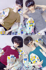 1/3 SD13 SD17 Uncle LUTS BJD Clothes Loose Casual Striped T-shirt 4 colour Blue