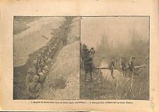 Médailles Croix de Guerre Poilus Boyau Bataille de Verdun WWI 1917 ILLUSTRATION
