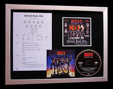 KISS Detroit Rock City SUPERB CD QUALITY MUSIC FRAMED DISPLAY+FAST GLOBAL SHIP