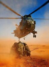 Royal Navy Marine Commandos MAO Team 845 NAS Sea King Jordan 11x8 Inch Photo