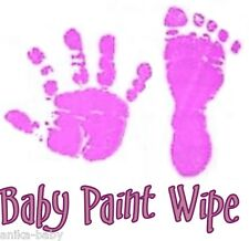 New Baby Girl Violet Purple Toddler Newborn Paint Wipe Hand Footprint Prints Kit