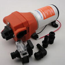 High Pressure Water Pump 12V DC 40 PSI 4.5 GPM.Fittings Replace Flojet Hoting