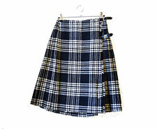 Scottish kilt wool black and white plaid Tartan vintage kilt F. J. Bacon skirt