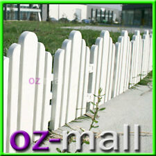 2.4M PLASTIC SECTIONAL GARDEN FENCE FENCING GATE PICKET