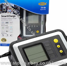 Ring RSC608 12v 8A Car Van Intelligent Smart Battery Charger & Analyser Tester