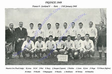 "FRANCE 1949 (v Scotland ) 12"" x 8"" RUGBY TEAM PHOTO PLAYERS NAMED"