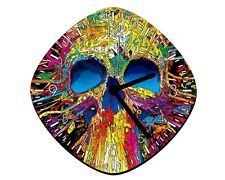 Cartoon Colors Skull - Wall Clock
