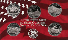 2006 SILVER 50 State Quarters  -   Dcam Proofs - Original Gov't Packaging & COA