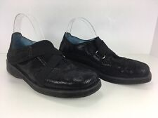 """Womens THIERRY RABOTIN black leather Snake Print """"LENA"""" casual shoes loafers 39"""