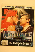"Wwe Raw Magazine ""Hulk Hogan"" ""Vince"" ""Triple H"" March 2003"
