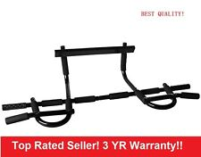 E51 Transfiit Chin Pull Up Bar Mounted Doorway Extreme Home Gym Fitness Workout
