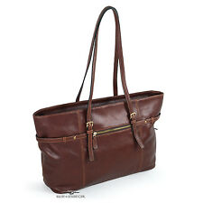 Classico Brandy Leather Business Tote by Mosaic™
