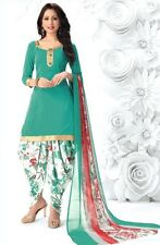 Elegant Crepe Designer Printed Patiala Unstitched Dress Material Suit.No RE4575