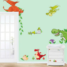 1 X Dinosaur Zoo Wallpaper Decals for Kids Baby Boy Bedroom Wall Stickers KSK