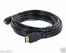 Mini HDMI Male to HDMI Male Type A to C 15 FT Cable for HDTV DV PC 1080p New Us