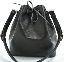 Louis Vuitton EPI Petit NOE Bag Tasche Shoulder Schultertasche Schwarz SUPER RAR
