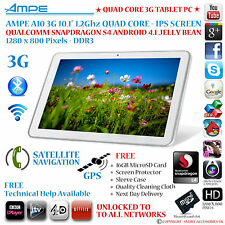"AMPE A10/SANEI N10 10.1"" 3G GPS QUAD CORE SNAPDRAGON ANDROID 4.2 TABLET PC - IPS"