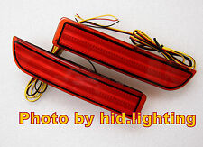 Red Lens LED Bumper brake Reflectors For 2006 up Toyota Rav4 & 2008 up Scion xD