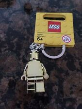 LEGO MR GOLD MAN MINIFIGURE KEYCHAIN NEW WITH TAG *MPN 850807