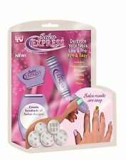 As Seen On TV Spark Salon Express Nail Design Kit Fun Neat Easy With Any Polish