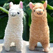 2x Cute Alpaca Plush Toy 23CM Height Camel Cream Llama Stuffed Animal Kids Doll
