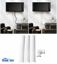 Wire Cable Organizer Flat Screen TV Cord Holder 2.25 Inch White Managment System