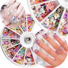 1200pc Nagelsticker 3D Nail Art Glitter Strass Nageldesign Nagel Tips Dekor Rad