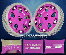 ANODIZED PURPLE 4G63/4G63T NA/TURBO 2.0 DOHC ADJUSTABLE RACING CAM GEAR PULLEY