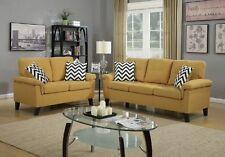 Lounging in Style New Living Room 2pc Sofa Set Citrus Sofa & Loveseat Modern