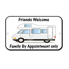 Friends Welcome Camping Family By App Different Rv Novelty Funny Metal Sign 8 i