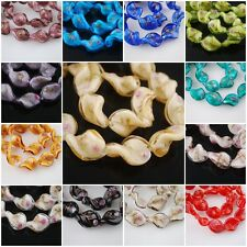 Mixed 50pcs 20mm Flower Glass Crystal Twist Helix Lampwork Beads Spacer Charms