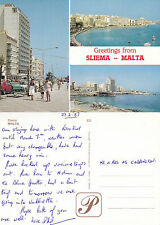1987 MULTI VIEWS OF SLIEMA MALTA COLOUR POSTCARD
