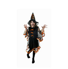 FOR 4 - 6 YEARS CHILDRENS WITCHES FANCY DRESS COSTUME HALLOWEEN OUTFIT