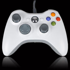 WHITE cablato USB CONTROLLER PER Microsoft Xbox 360 e PC Windows