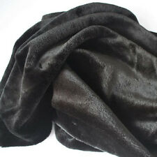 """Black FAUX FUR FABRIC costumes cosplay crafts blankets backdrops 60"""" wide BTY"""