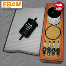 SERVICE KIT CITROEN C2 1.1 8V PETROL FRAM OIL AIR FUEL CABIN FILTER PLUG (04-13)