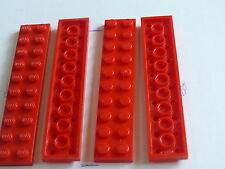 Lego 4 plates rouges set 7823 8671 7985 / 4 red plates