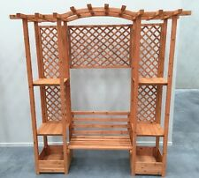 Timber Garden Arch Bench Chinese Style Trellis Flower Pot $199