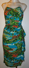 Rare Vintage Girls 1950's Hawaiian Wiggle Dress Royal Hawaiian Honolulu S 10 xxs