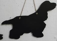 COCKER SPANIEL new DOG SHAPE chalk board Christmas birthday gift pet blackboard
